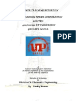 Final Training Report on400 kv  Sub Station by Er. Pankaj Kumar
