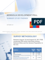 Mongolia Development Poll September 2011