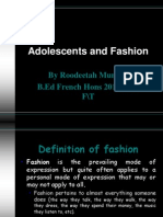 Adolescents and Fashion