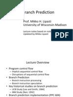 Lect08 Branch Prediction