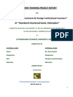 Final Project on Fdi & Fii
