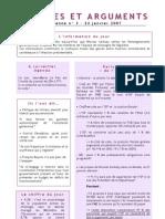 Données Et Arguments n° 3 - Campagne 2007 - Julien DRAY