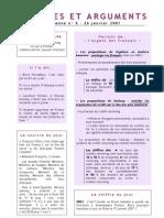 Données Et Arguments n° 5 - Campagne 2007 - Julien DRAY