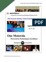 MotorolaCGISS Application Summary
