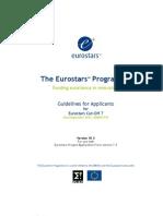 Eurostars Eureka Guidelines for Applicants