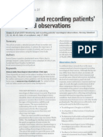 monitoring and recording patients neurological observations