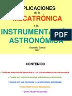 Aplicaciones de La Mecatronica a La Instrumentacion Astronomic A