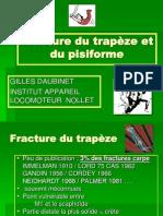 POIGNET Fracture du trapèze et du pisiforme