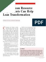 How HR Helps Lean