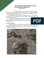Posible Sitio Arqueoastronomico en Queretaro