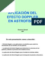 Aplicacion Del Efecto Doppler en Astrofisica