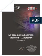 Viavoice Libération. Octobre 2011