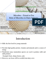 Role of Microbes in Dairy Industary
