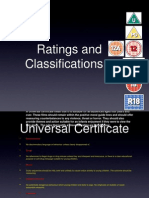 Ratings and Classifications