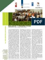 Diálogos en Democracia Nro. 15 Democracia en Bolivia, reseña del encuentro.