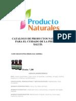 Catalogo de Productos Naturales Para El Cuidado de La Piel y La Salud