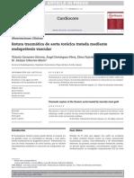 Rotura traumática de aorta torácica tratada mediante