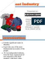 36022227 SM Presentation on Garment Industry