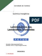 Trabalho de Inorgânica_Luminescência dos íons Lantanídeos
