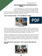 LOS DIEZ DESASTRES NATURALES MAS CATASTROFICOS DE LA HISTORIA HUMANA.