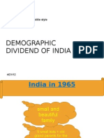 Demographic Dividend of India