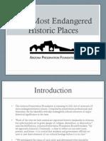 2011 Arizona Most Endangered Historic Places