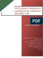 Frecuencia de Los Grupos Sanguineos ABO (CBTis)_Investigacion