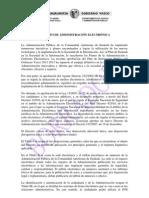 Decreto de Administración Electrónica del Gobierno Vasco (nueva versión)