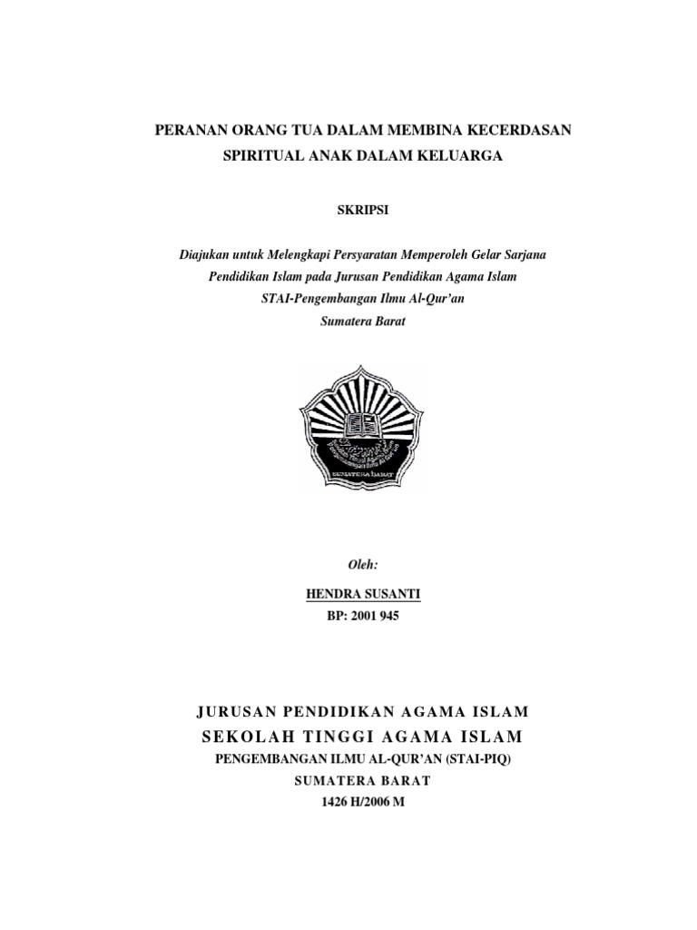 Contoh proposal tesis