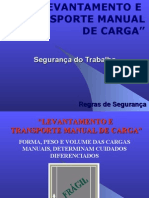 Treinamento Transporte Manual de Carga