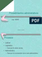 Análisis de Ley Procedimientos Adm 19549