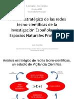 Análisis estratégico de las redes tecno-científicas de la investigación española en áreas protegidas.