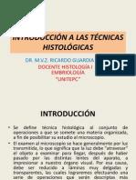INTRODUCCIÓN A LAS TÉCNICAS HISTOLÓGICAS