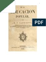 Sarmiento - Educación popular