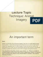 Animal Imagery - Lecture