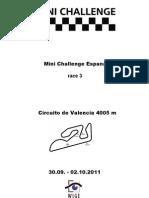 Mini Challenge Espana$Race 3$All