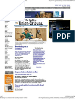 IOC in the San Diego Union Front Page 011308