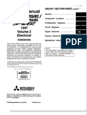 97-99 mitsubishi eclipse Electrical manual | Relay ... on