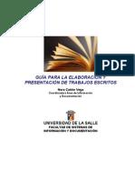 Guia para la Elaboración y Presentación de Trabajos Escritos