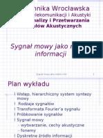 Wprow Do EIT - Sygnał Mowy Jako Nośnik Informacji
