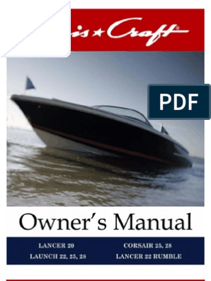 Chris Craft Launch Corsair Owners_Manual With Wiring | Gallon | NatureScribd