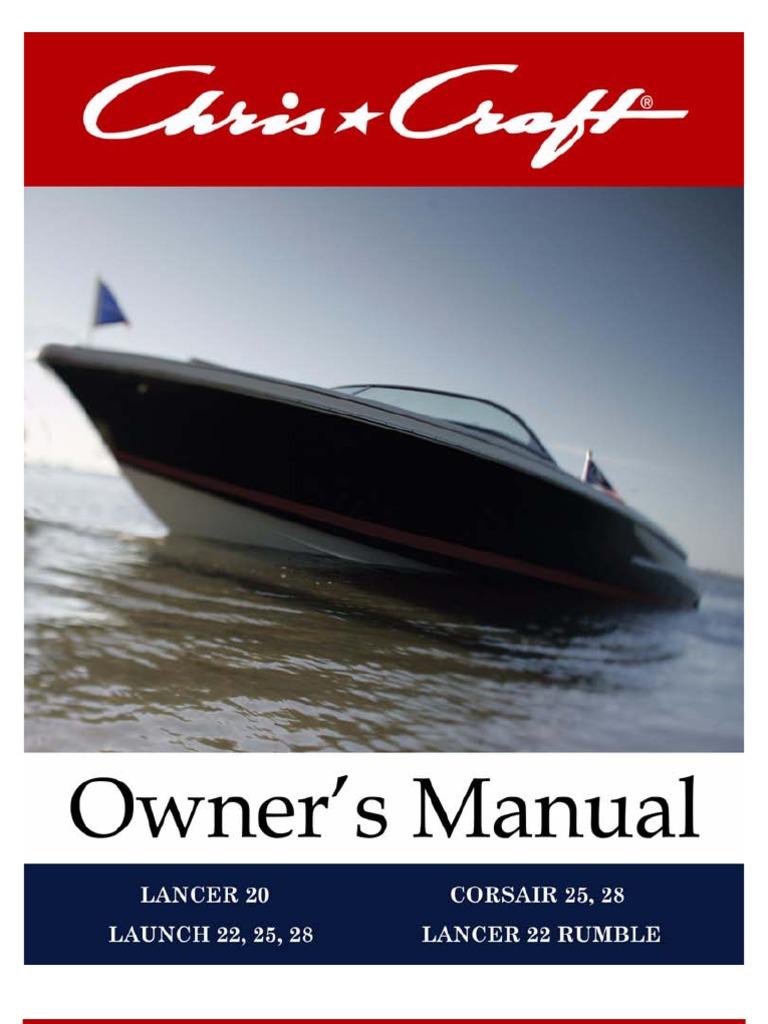chris craft corsair 25 owners manual