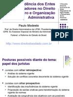 Independência Dos Entes Reguladores No Direito Brasileiro e Organização Administrativa