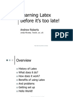 Learning Latex 1
