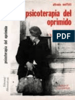 Psicoterapia del Oprimido   Alfredo Moffatt