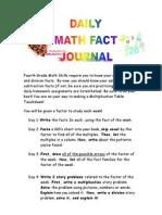 math fact journal