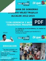 Programa Gobierno Dionisio Vélez