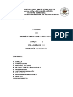 Syllabus de a Aplicada a La Investigacio 2006-3n
