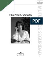 manual de canto - tecnica vocal