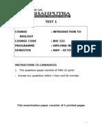 TEST 1 BIO 121